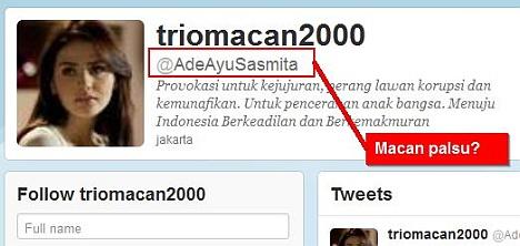Trio Macan Twitter Ade Ayu Sasmita